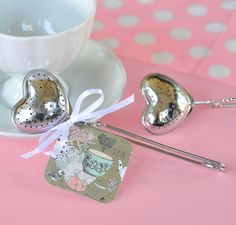 Wholesale Wedding Favors, Party Favors, by Beter Gifts Heart Tea Infusers http://m.aliexpress.com/item/1868406056.html