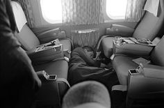 History In Pictures ‏@HistoryInPics  Robert F. Kennedy sleeps on the floor of a plane during his 1968 presidential campaign