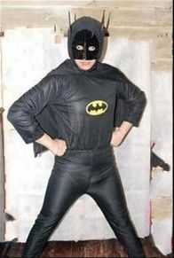Polyester Black Cool Batman Cosplay Costume Masquerade Party Stage Clothing for Adult Male