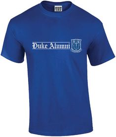 Duke University Collection of Gifts - Duke® Alumni T-shirt University Store, Duke University, Duke Blue Devils, Mens Tops, T Shirt, Gifts, Stuff To Buy, Clothes, Collection