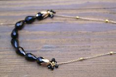 This necklace measures 18 inches and is finished with a lobster clasp.