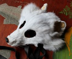 Arctic fox taxidermy mask by Lupa. Available at https://www.etsy.com/listing/224073693/real-eco-friendly-white-arctic-fox-fur
