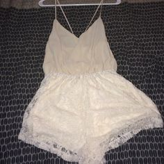 Lace romper New ! Lace romper  super cute and simple . NWOT Dresses