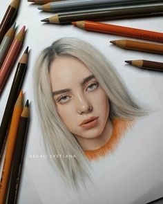 The 10 best makeup ideas for eyes (with pictures) – Ma new glossy sketc …, Cool Art Drawings, Pencil Art Drawings, Art Drawings Sketches, Realistic Drawings, Colorful Drawings, Colored Pencil Portrait, Color Pencil Art, Desenhos Halloween, Arte Sketchbook
