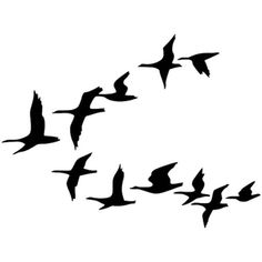 Flying geese - Birds - Vector Illustration/Drawing/Symbol (SVG) - IAN Image Library - Free High Resolution and Vector Environmental Science Images - Flight, Travel Destinations and Travel Ideas Gans Tattoo, Vogel Clipart, Goose Drawing, Nicolas Vanier, Photographie Street Art, Flying Bird Silhouette, Science Images, Bird Stencil, Flying Geese