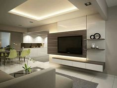 Tv lounge design ideas collect this idea living room design tv Tv Lounge Design, Living Room Tv Wall, Lounge Design, Living Room Tv, Tv Feature Wall, Tv Unit Design, Modern Room, Interior Design Singapore, Room Design