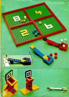 LEGO 226 Building Ideas Book instructions displayed page by page to help you build this amazing LEGO Books set Lego Party Games, Lego Building, Building Ideas, Used Legos, Lego Challenge, Lego Club, Lego Activities, Lego Craft, Lego For Kids