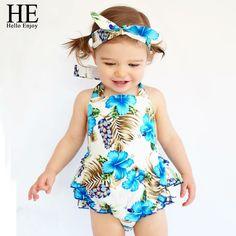 $7.10 (Buy here: https://alitems.com/g/1e8d114494ebda23ff8b16525dc3e8/?i=5&ulp=https%3A%2F%2Fwww.aliexpress.com%2Fitem%2FHE-Hello-Enjoy-Baby-girl-clothes-Romper-Summer-baby-girl-clothing-set-infant-clothing-china-3pcs%2F32677358562.html ) HE Hello Enjoy Baby girl clothes Romper Summer baby girl clothing set infant clothing china 3pcs Blue headband + shirt + panty for just $7.10