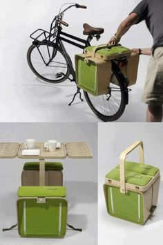 Bicycle table... thing. So cool!                                                                                                                                                                                 More
