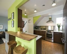 Small Kitchen Design Layout Ideas With Contemporary Kitchen Steel Backsplashes Stainless Wood Countertops Kitchens Bar Cabinets Cork Flooring, Kitchen Flooring, Kitchen Furniture, Flooring Tiles, White Countertops, Kitchen Countertops, Küchen Design, Floor Design, Design Ideas