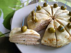 Janet Is Hungry: Salmon and Cream Cheese Crepe Appetizers Cheese Appetizers, Yummy Appetizers, Appetizer Recipes, Salmon Appetizer, Sandwich Cake, Party Dishes, Crepes, Love Food, Foodies