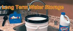 Long Term Drinking Water Storage