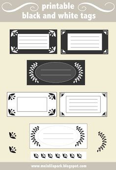 free printable black-and-white ornament tags //// classy address labels !!!