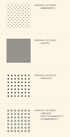 SVG patterns for Data Visualization http://riccardoscalco.github.io/textures/