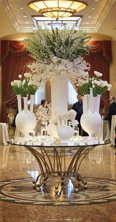#EscortTable Stunning Tall Floral Centrepiece