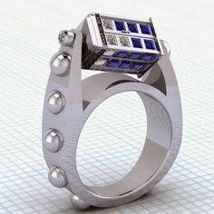 TARDIS spinning ring by Paul Michael