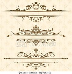 Vector - Vintage Floral Border - stock illustration, royalty free illustrations, stock clip art icon, stock clipart icons, logo, line art, EPS picture, pictures, graphic, graphics, drawing, drawings, vector image, artwork, EPS vector art