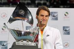 Roger Federer beats Novak Djokovic 6-3 , 7-5 to win Dubai in 2015