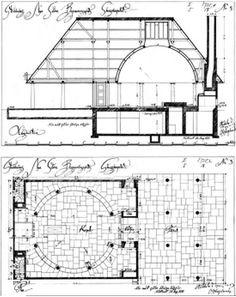 Gunnar Asplund Woodland Chapel  Stoccolma 1911  Tipologia cupola e portico, ricollegabile all'Altes museum e al parlamento di Chandigarh
