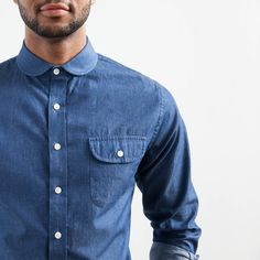 Elk Head Clothing's round collar indigo denim.