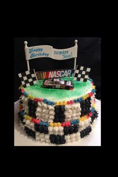 NASCAR cake I made for a birthday party