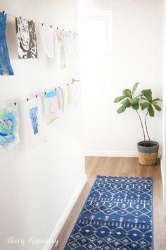 Displaying Children's Artwork {Hallway Makeover} | Stacy Risenmay