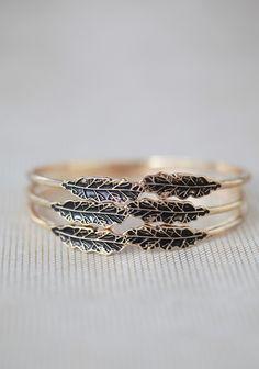 Winded Leaves Bangle Set | Modern Vintage Jewelry