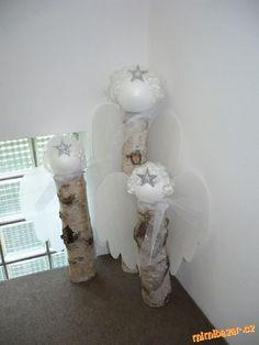 dekorace stříbrní andělé