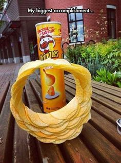 Humor & quotes QUOTATION - Image : As the quote says - Description Pringles stack ring // funny pictures - funny photos - funny images - funny pics - Funny Cute, The Funny, Hilarious, Funny Images, Funny Photos, Satisfying Pictures, Satisfying Things, Oddly Satisfying Videos, Funny Stuff