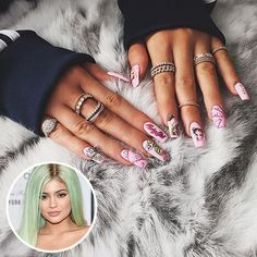 #KylieJenner is rocking a #Barbie doll #manicure!