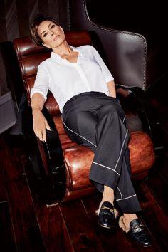 Kris Jenner wearing Gucci princetown leather fur loafers. #idol #fashion