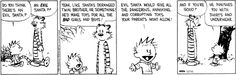 Calvin and Hobbes -What do kids get if Santa isn't happy with them?