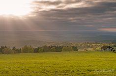 Sonnenuntergang über das Vogtland bei Schöneck