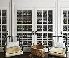 French country wine cellar