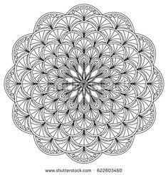 Mandala coloring page. Vector illustration. Hand drawn.