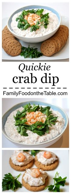 Quickie crab dip - just 3 ingredients! An easy but fancy appetizer!