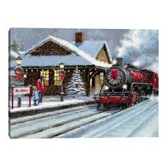 Christmas Scenery, Christmas Artwork, Christmas Train, Grinch Stole Christmas, Christmas Past, Christmas Paintings, Christmas Images, Christmas Wallpaper, Christmas Diy