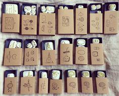 ・ ・ ・ #zakkaQoo様用 (委託) ・ 本日無事に @sora_zero_qoo さまに納品完了しました ・ 写真は「はんこの箱」納品分の1部、包装前です。 ・ この他に「はんこのばっぐ」「はんこのふくろ」納品いたしました。 ・ 毎回はんこの図案が変わりますので、ぜひぜひお気に入りに出会っていただけたら嬉しいです(﹡´◡`﹡ )゛ ・ ・ ・ #はんこ#消しゴムはんこ#けしごむはんこ #スタンプ#委託先様用 #高知#手仕事#ハンドメイド#はんこのはこ#紙モノ #紙もの