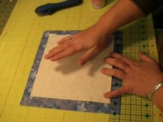 Easy Quilt as you go.  So far I believe this is the best tutorial I have found. Complete Video Instructions