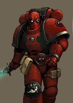 #Deadpool #Fan #Art. (Deadpool Space Marine) By:FonteArt. (THE * 5 * STÅR * ÅWARD * OF: * AW YEAH, IT'S MAJOR ÅWESOMENESS!!!™)[THANK U 4 PINNING!!!<·><]<©>ÅÅÅ+(OB4E)