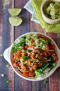 Sofritas Tofu Burrito Bowls - Host The Toast Tofu Recipes, Mexican Food Recipes, Vegetarian Recipes, Cooking Recipes, Healthy Recipes, Ethnic Recipes, Vegetarian Mexican, Cooking On A Budget, Cinco De Mayo