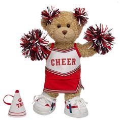 Red Cheerleader Curly Teddy - Build-A-Bear Workshop US $36.00