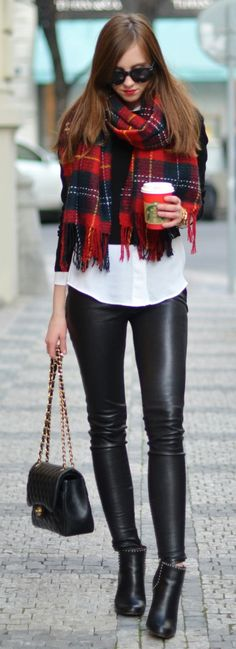 Topshop shirt Mango sweater Balenciaga leggings via Gasmy Givenchy boots