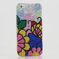 Bling Cases, Handmade Crystals Flowers Design case for iphone 5, iphone 5s, iphone 6, Samsung Galaxy S4, S5, Note 2, Note 3, LG, HTC, Sony and other phone models – LuxAddiction.com