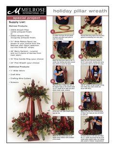 pillar wreath