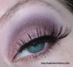MAC eye shadows used:        * Da Bling (on lid, below crease)      * Nocturnelle (crease)      * Blackberry (deepen crease)      * Vanilla (highlight and blend)