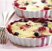 Diabetic Recipes - Berry Pudding Cake - also looks good if you're not diabetic, uses real sugar.