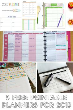 5 FREE Printable Planners
