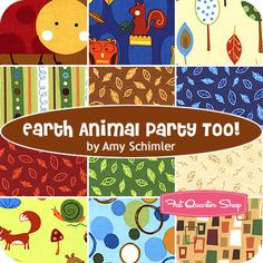 Earth Animal Party Too! by Amy Schimler for Robert Kaufman Fabrics