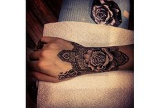 6 Fantastic Ideas for Female Wrist Tattoos I love lace and although ill prob never get anything like this i do love the lace look!